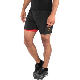 "asics Cool 2-N-1 5"" Shorts Herren performance black"